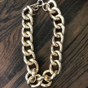 Oversized gold chain necklace- Banana Republic